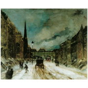Street Scene With Snow 57th St Nyc 1902 Poster Zazzle Com