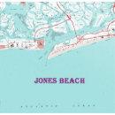 Vintage Jones Beach New York Map On Canvas Large F Poster