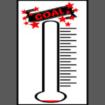 Fan image for printable thermometer goal