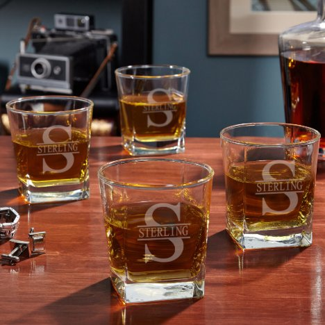 Set of 4 Oakmont Design Rutherford Whiskey Glasses