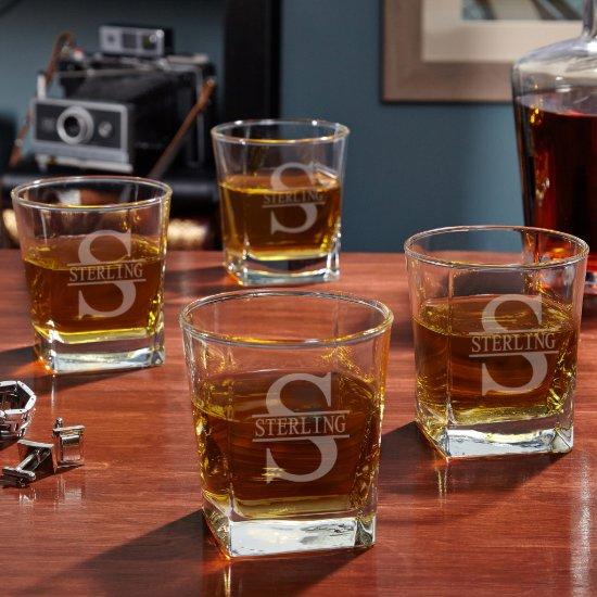 Set of 4 Oakmont Design Rutherford Whiskey Glasses