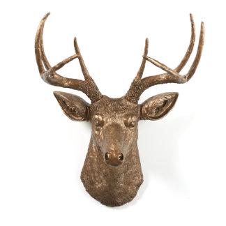 Bronze Sculpture Stag Deer Head