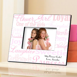Shades Pink Personalized Flower Girl Picture Frame