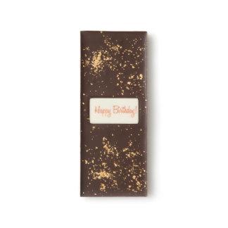 Cumpleaños de oro barras de chocolate negro
