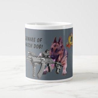 German Shepherd Watch Dog Giant Coffee Mug