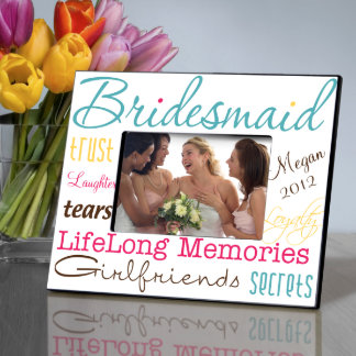 Personalized Classic Tone Bridesmaid Picture Frame