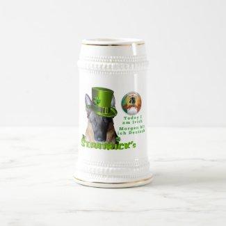 Saint Patrick's German Shepherd Owner Mug/Stein Frosted Glass Coffee Mug