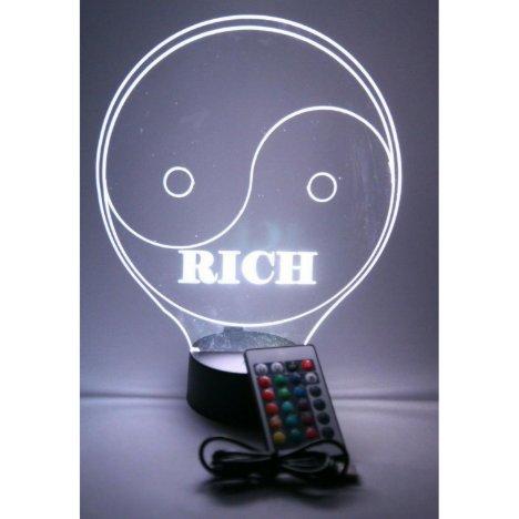 Yin Yang Life Night Light Up Lamp LED Personalized
