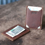 "Trey Brown Money Clip Leather Front Pocket Wallet<br><div class=""desc"">The Trey money clip wallet is ultra thin and excellent for carrying the essentials.  This wallet features a spring tension money clip to keep your bills in place.  Not only can it keep your bills secure,  it also can hold up to 3-4 cards comfortably.</div>"