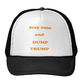 Stay Sane Dump Trump Trucker Hat