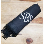 """Monogram Pashmina Shawl<br><div class=""""desc"""">The perfect Fall and Winter scarf. Makes a great Christmas gift! This super soft monogram scarf is perfect for keeping you warm this Fall and Winter! Made from a 100% acrylic knit available in 10 different colors! These pashmina scarves will keep your neck, shoulders and chest nice and toasty. These...</div>"""