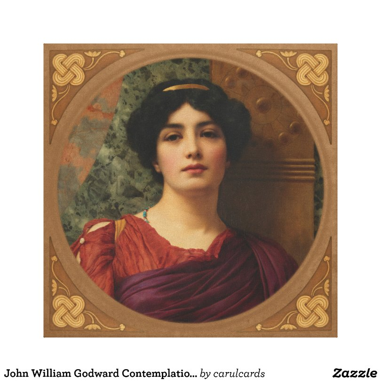 John William Godward Contemplation CC0634 Canvas Print