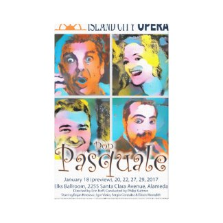 Island City Opera Don Pasquale Canvas Poster