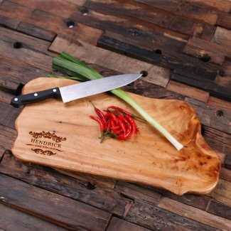 Personalized Cedar Wood Cutting Chopping Board