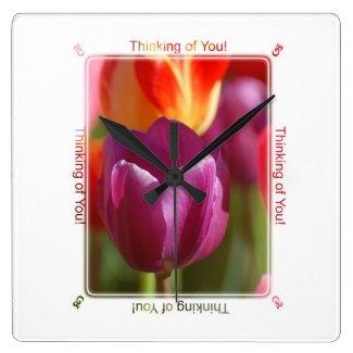 Thinking of You Round Clock
