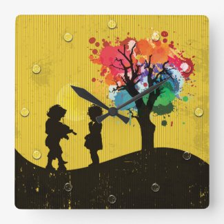 Romance, Joy, Nature And Colors Wall Clock