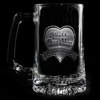 Best Mom Personalized Beer Mug