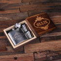 Cool Gift Set: Steel Shot Glasses & 5 oz. Flask