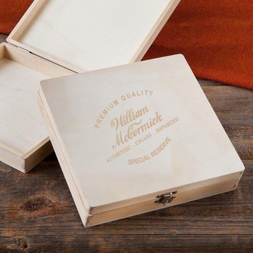 Script Font Special Reserve Wood Cigar Box