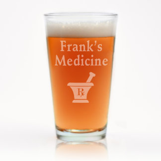 Custom Engraved Medicine Pint Glass