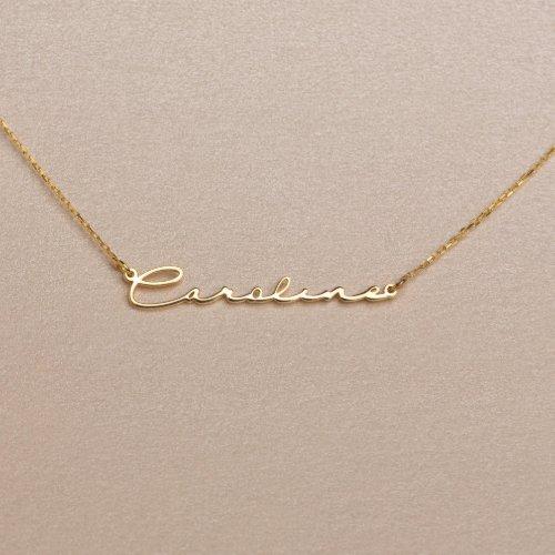Dainty Minimalist Script Name Necklace
