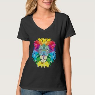 Geometric Lion Head T-Shirt