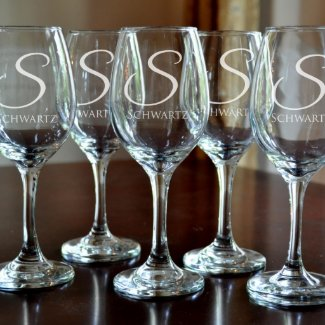 Personalized Monogram Wine Glass (Single)