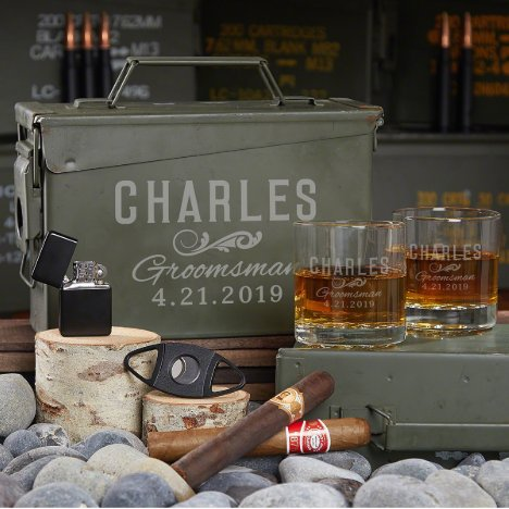 All the Vices Ammo Can Gift Set w/ Whiskey Glasses
