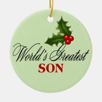 World's Greatest Son Ceramic Ornament
