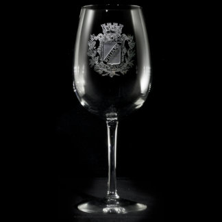 Regal Crest Personalized Wine Glass