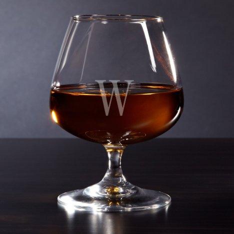 Unique Monogrammed Cognac Brandy Glass