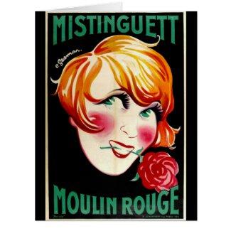 Portrait Actress Mistinguett 1926 Card