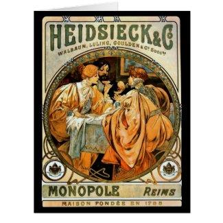 Vintage Wine Ad 1901 Card