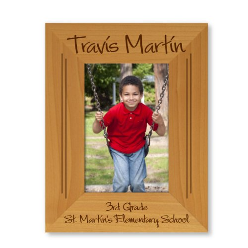 Cute Engraved Graduation 9x7 Wooden Picture Frame