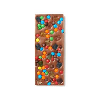 Chocolate Candy and Gummi Bears Milk Chocolate Bar