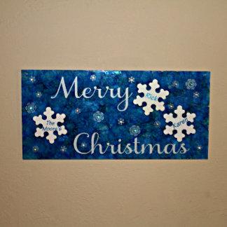 Merry Christmas Snowflake Sign