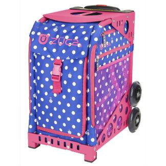 ZÜCA Rolling Bag w/Polka Bots & Pink Sport Frame