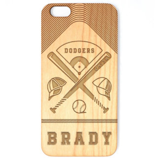 Personalized Cherry Wood iPhone Baseball Case