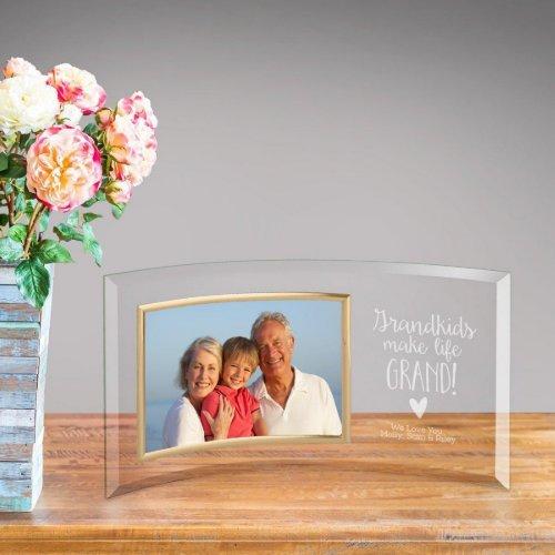Grandkids Make Life Grand Glass Picture Frame
