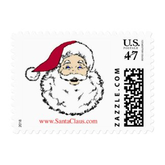 Christmas Stamp with Santa Claus