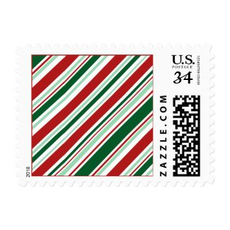 Modern Christmas Candy Stripes Stamp
