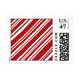 Holiday Red and White Peppermint Stripes Postage Stamp