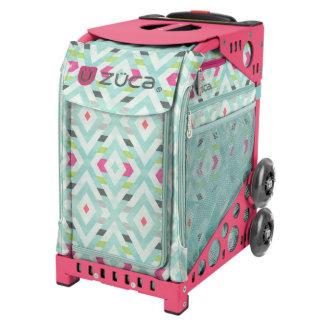 ZÜCA Rolling Bag w/Chevron & Pink Sport Frame