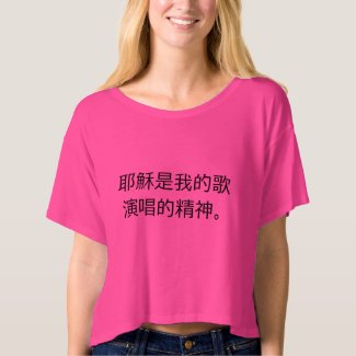 Jesus is The Song my spirit sings (Chinese) T-shirt
