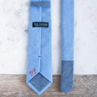 Dustin - Chambray Sky Blue Men's Skinny Necktie