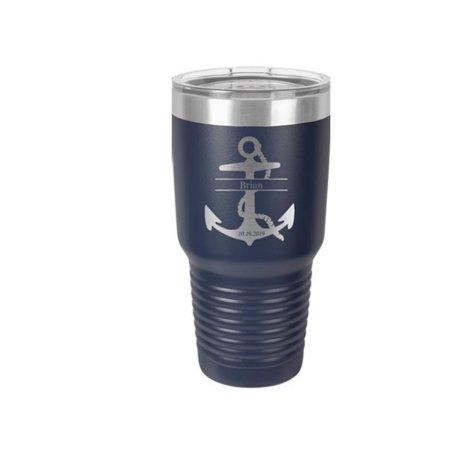 Nautical Monogrammed Anchor 30 oz. Steel Tumbler