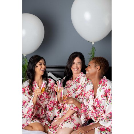 Monogrammed Floral Cotton Bridesmaid Robes