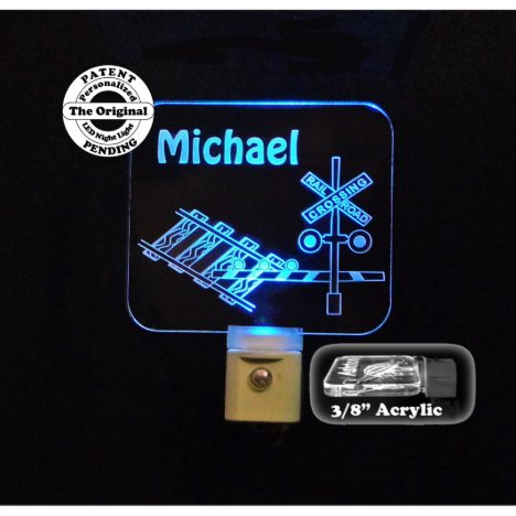 Personalized Railroad Crossing LED Night Light