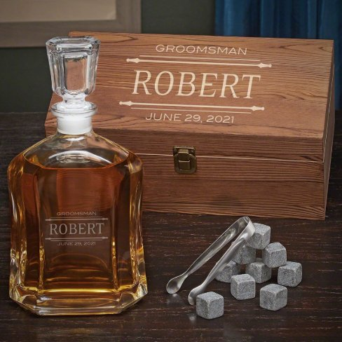 Whiskey Rocks Gift Box Set And Stanford Decanter