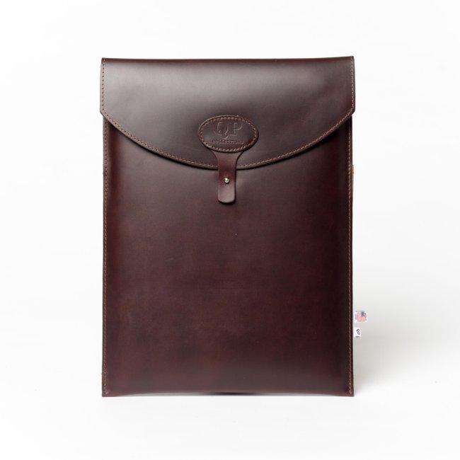 Dark Brown Leather Monogrammed 13